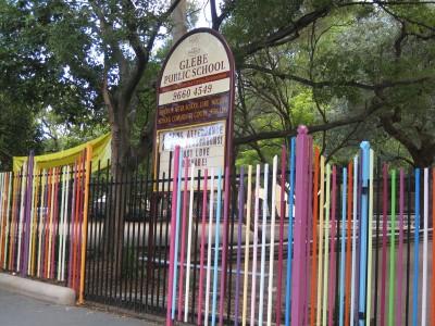 Glebe Public School fence, artist Nuha Saad