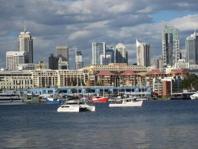 City views from Blackwattle Bay Park