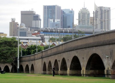 The viaduct at Wentworth Park