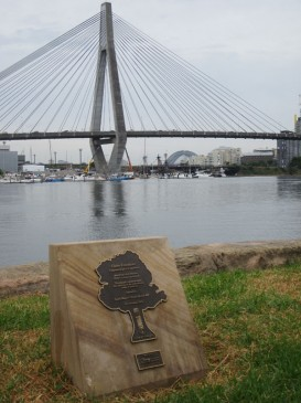 Waterfront Walk, plaque