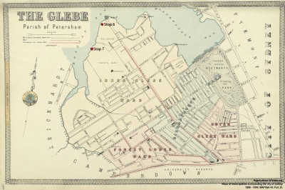 Map of Glebe - Higinbotham & Robinson. Maps of municipalities surrounding the city of Sydney, 1890 - 1899. MAP RaA 40. Part 23.
