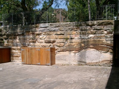 Four phases of deposition in Sandstone