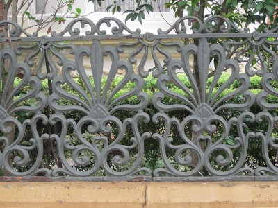Iron lace fence, 21 Avenue Rd