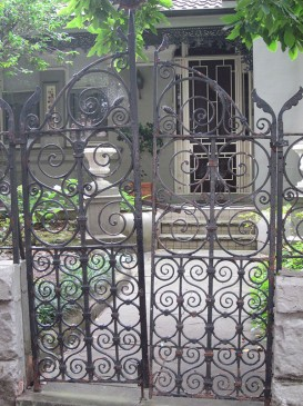 Wrought iron gate, 15 Arcadia Road
