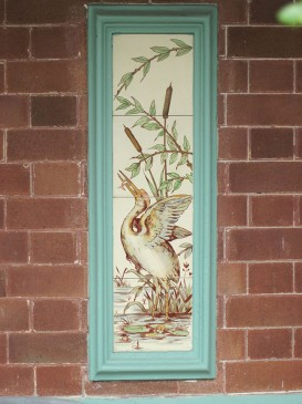 Tiles - decorative panel, 43 Toxteth Rd